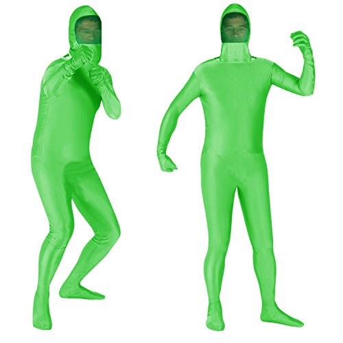 ATHX Photo Video Full Body Screen Suit Zentai Costumes (Adults Medium, Mesh Lime ()