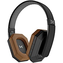 Ghostek soDrop Pro Wireless Over Ear Headphones with Active Noise Cancelling - Black/Brown