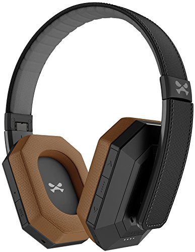 Ghostek soDrop Pro Wireless Over Ear Headphones with Active Noise Cancelling - Black/Brown -