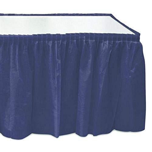 Self Adhesive Pleated Navy Blue Plastic Table Skirts 29