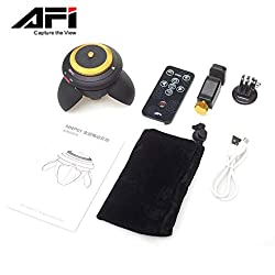 AFI MRP01 Portable Tripod Head 360-Degree Time Lapse Electric Rotation Panorama Head for Selfie Stick Action Camera Smartphone