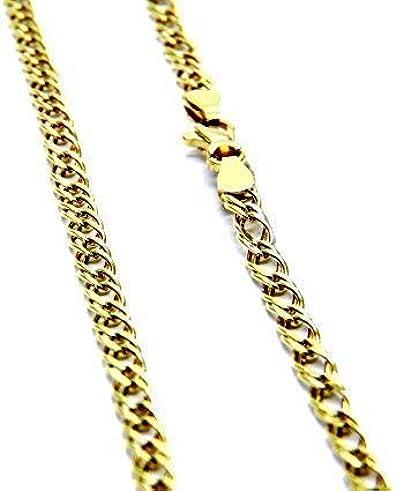Pegaso Gioielli - Cadena de oro amarillo de 18ct y 50 cm para hombre y mujer