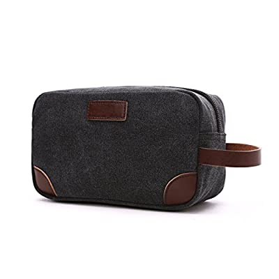 2000eac1ac40 ... Kit Shaving (Black). chic DW Men Toiletry Bag Canvas Large Waterproof  Overnight Travel Wash Makeup Bag For Women Overnight