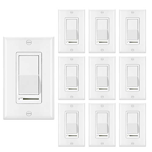 [10 Pack] BESTTEN Dimmer Light Switch