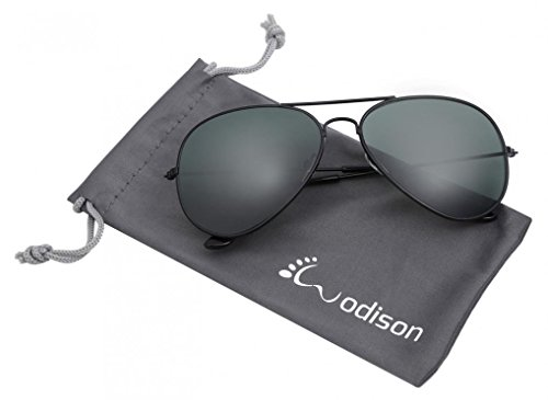 WODISON Vintage Mirrored Aviator Sunglasses for Women Men Reflective Lens Metal ()