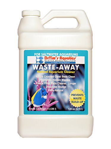 DrTim's Aquatics Waste-Away Natural Aquarium Cleaner, Saltwater 128 oz by DrTim's Aquatics