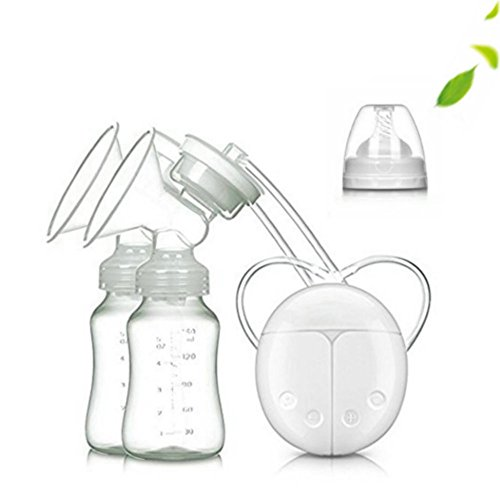 Electric Double Breastpump Portable Milk Saver – Handsfree Silicone Breastfeeding Pump Like a Comfort Massage, Baby Feeding and Breast Care, USB Charging