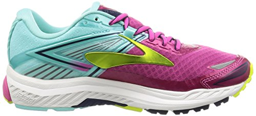 Brooks Ravenna 8, Zapatillas de Gimnasia para Mujer Rosa (Very Berry/aqua Splash/lime Punch)
