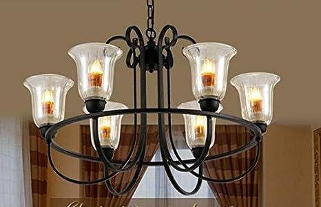 Moderni lampadari ferro caldo salotto luci lampade di vetro