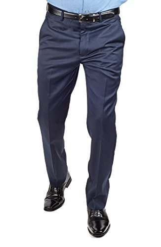 azar Pants (32 Waist, Navy Blue) by azar