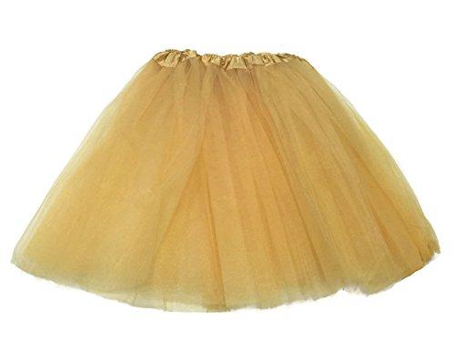Rush Dance Women's Costume Ballet Warrior 5K, 10K Fun Dash Run Adult Tutu (Adult, Gold)