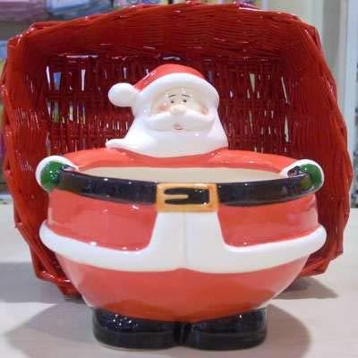 KIPITALIA S.R.L BISCOTTIERA Ceramica Babbo Natale