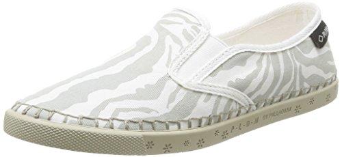 zebra Grigio Gris grau Espadrillas Bora Palson Da off White Donna 0I5wX
