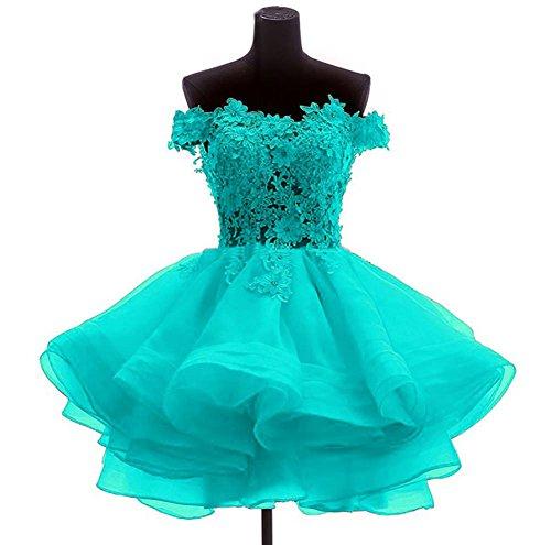 Ethel Women's Sweetheart Organza Applique Mini Knee Homecoming Dresses