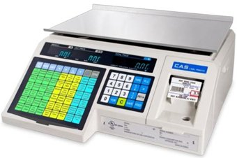 CAS LP1000N Label Printing Scale, 30lbs Capacity, 0.01lbs Readability by CAS