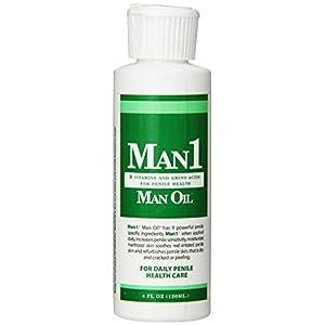 Man1 Man Oil Natural Penile Health Cream. 3-month supply. M.B. Guarantee. Treat dry, red, cracked or peeling penile skin and increase penile sensitivity.