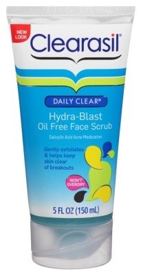 Clearasil Daily Clear Hydra-Blast Face Scrub 5oz Oil-Free