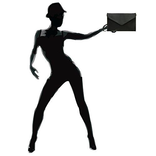 Black Women Ta310 Clutch Envelope Caspar qCFw01
