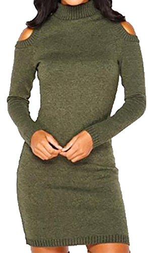 Spalla Fredda Lungo Manicotto Maglione Dal Collo Cruiize Womens Alto Verde qOTtWZ