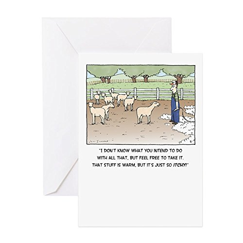 Sheep Note - CafePress - Sheep - Greeting Card, Note Card, Birthday Card, Blank Inside Matte
