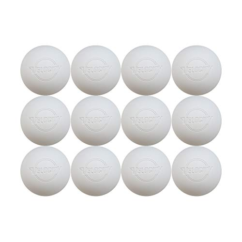 12 Pack of Velocity Lacrosse Balls. - Color White.
