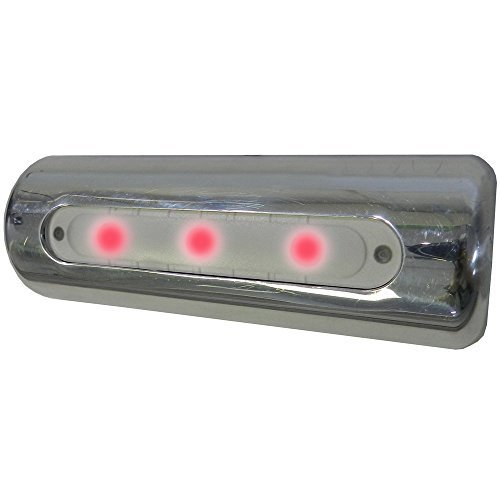 Taco Metals F38-8600BXZ-R-1 Led Deck Light - Pipe Mount, Red Leds by Taco Metals