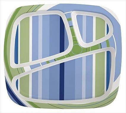 Zak Design Hampton 6569-0010 3-Section Plate44; Pack Of 6