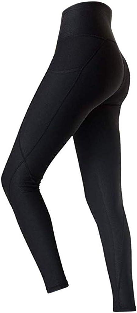 Einfarbig Leggins Stretch-Hose Lauf-Tights f/ür Smartphone iPhone Handy Schl/üssel Workout Out Pocket Leggings Fitness Laufen Yoga Athletic CixNy Laufhose Damen mit Tasche lang