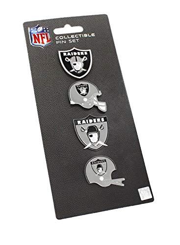 Pin Hat Collectible Team - NFL Oakland Raiders Logo Evolution 4 Pin Set