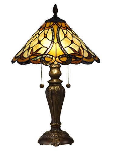 Springdale STT16110 Coda Tiffany Table Lamp, Antique Bronze