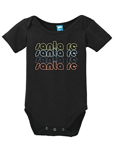 Sod Uniforms Santa Fe Mexico Retro Printed Infant Bodysuit Baby Romper Black 3-6 Month -