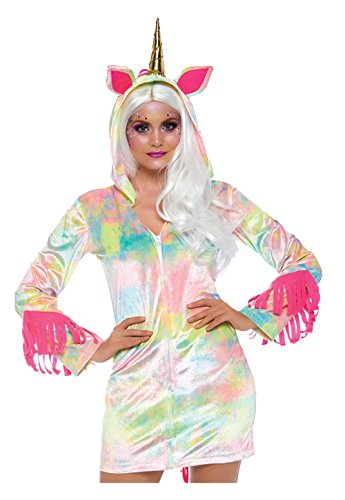 Leg Avenue Womens Enchanted Rainbow Unicorn Costume, Multi, Small