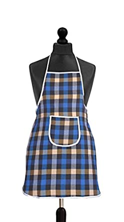 Yellow Weaves™ Waterproof Cotton Kitchen Apron with Front Pocket - Multi Colour