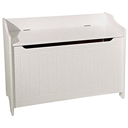 Sensational Amazon Com Pemberly Row Wood Storage Bench In White Caraccident5 Cool Chair Designs And Ideas Caraccident5Info