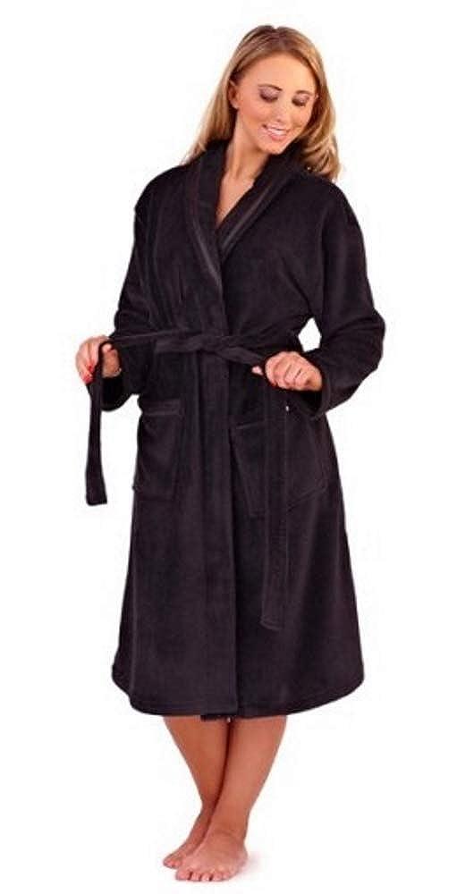 New Luxury Womens Full Length Fleece Bath Robe Dressing Gown