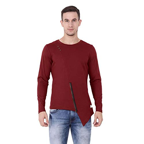 02c4c69871bf1 Hotpool Men s Round Neck Full Sleeves Plain Cotton T-Shirt  Amazon ...