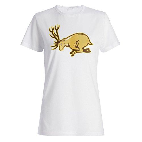 Neue Hirschjäger Hirschkunst Damen T-shirt l626f