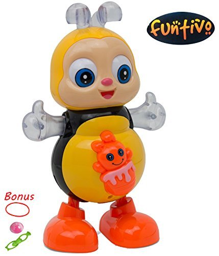 FUNTIVO Happy Bee Dancing Swing with Lights and Music, Battery Operated babies/kids Action Toy, Size: 8.5'' by FUNTIVO