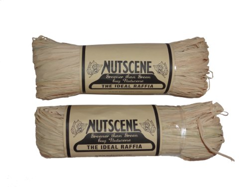 Bosmere K822 2-Pack Nutscene Hank of Raffia Twine, 300-Feet, Natural