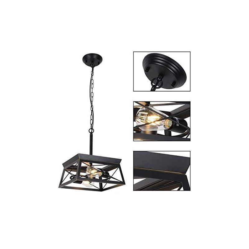 HMVPL Industrial Pendant Lighting Fixtures, Farmhouse Swag Chandeliers Hanging Light Mini Ceiling Lamp 2-Light for…