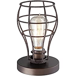 "Oldham Industrial Uplight 9 1/2""H Edison Bulb Table Lamp"