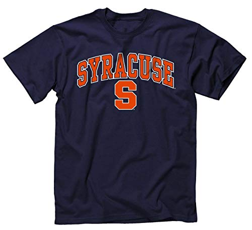 University T-shirt Syracuse - Campus Colors Syracuse Orange Arch & Logo Gameday T-Shirt - Navy, XX-Large