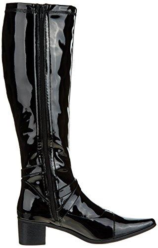 Initiale Souka - Botas clásicas hasta la rodilla Mujer Noir (Noir Vernis)