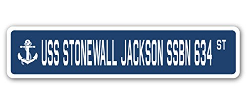 (USS Stonewall Jackson SSBN 634 Street Sign us Navy Ship Veteran Sailor Gift)