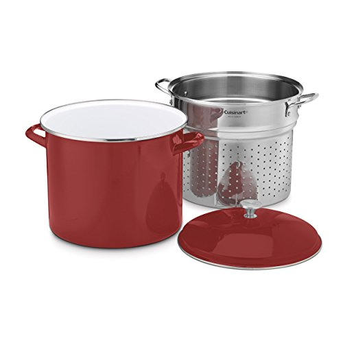 20 quart stock pot red - 2