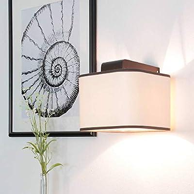 Bauhaus Hotel lámpara Bauhaus (forjada, Negro, Crema, pantalla ...
