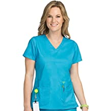 Med Couture Women's Flex-It V-Neck Solid Scrub Top
