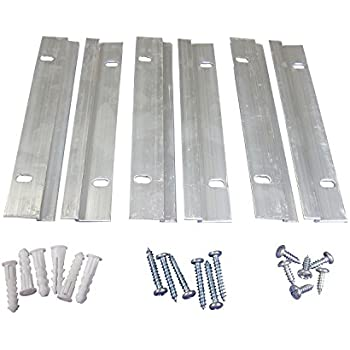 6 Inch 50 Pound French Cleat Picture Hanger Kit | Small Z Bar Hanger | 3 Pairs