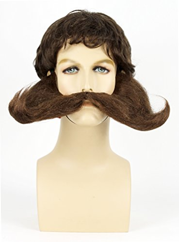 Oversize Costume Mustache with Sideburns (Brown) (Adult Munchkin Mayor Costume)