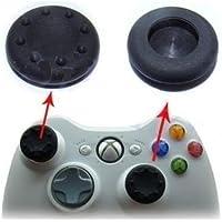Par Grip Borracha Silicone P/Analogico thumb stick Controle Ps2 Ps3 Ps4 Xbox 360 One - Preto